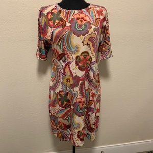 Nally & Millie Floral Knit Dress